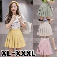(#702 XL/XXL/XXXL)Tennis Skirt/Korean Pleated Skirt/Rok Pendek