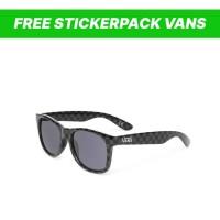 Kacamata Vans Spicoli 4 sunglasses black charcoal checkerboard