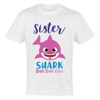 KAOS ANAK BABY SHARK BAJU TSHIRT SISTER SHARK PINKFONG