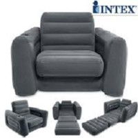 Intex Pull Out Size Twin Sofa Bed Hitam. Sofa Kasur Angin Lipat 68565