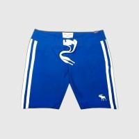 Celana Pantai AnF #1 Side Stripe Boardshort Original-Biru
