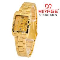 Original Mirage Jam Tangan Wanita Tahan Air Gold 8461L pK