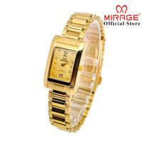 Jam Tangan Mirage Wanita Original Gold 7062L pK