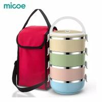 Micoe Rantang Stainless Steel Rantang Jinjing 4 tingkat serbaguna