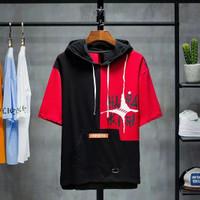 Baju Kaos Hoodie Lengan Pendek Hodie Hara untuk Pria Hoodies