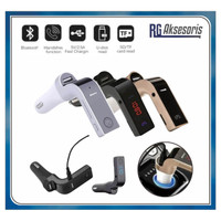 [ CAR G7 MODULATOR ]FM Transmitter Bluetooth Charger Mobil AUX MP3 USB