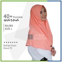 Jilbab Instan NAJWA L / Hijab Kaos Bergo NAJWA Polos Size L