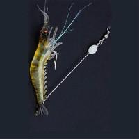 Memancing Pembuatan Saltwater Fishing Luminous Lembut Lures udang
