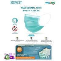 Boson Masker Earloop 3 ply (Box isi 40 pcs)