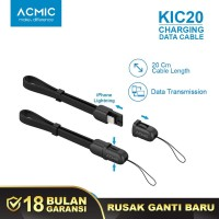 ACMIC KiC20 Kabel Data Charger 20cm iPhone Lightning Fast Charging