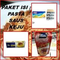 Paket PASTA SPAGHETTI Saus La Fonte Bolognese Keju Cheddar Kraft Cheft
