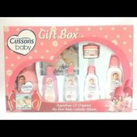 Paket Cusson Baby Gift Set Box | Kado Lahir Perawatan Bayi Bedak DLL