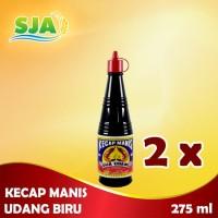 Kecap Manis Udang Biru 275 ml (2 botol)