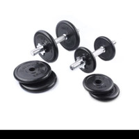 Berwyn Dumbell Set Rubber 20 Kg (PENGIRIMAN GRAB/ GOSEND)