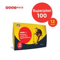 IM3 OOREDOO - PASCABAYAR SUPERPLAN 100 (12 BULAN)