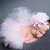 Rok Tutu dan Bandana Properti Fotografi Bayi