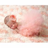 Rok Tutu dan Bandana Bayi Properti Fotografi