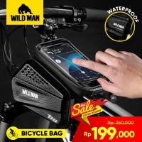 Tas Sepeda Gunung Tas Balok + Waterproof Hardcase Smartphone Wildman
