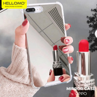 Anti Crack Casing HP Mirror Kaca Oppo / Anticrack Case Cermin Oppo - TULIS DICATATAN
