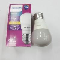 Lampu bohlam LED Philips 4w 4watt 4 w watt KUNING WARM WHITE