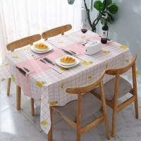 Taplak Meja Modern Bahan PEVA Premium Ukuran 137 Cm x 180 Cm - Merah Muda