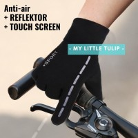 Sarung Tangan Pria Motor Anti Air Reflektor Touch Screen HP Waterproof