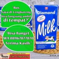 Susu Diamond UHT 1 Liter - Full Cream - Plain 1000 ml - [Ecer]