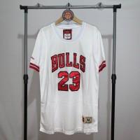 Jersey Basket Swingman NBA Chicago Bulls Michael Jordan Sleeved white