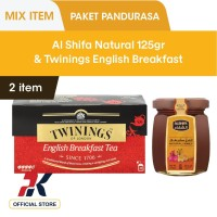 [Free Al Shifa 125gr] Twinings Teh Celup English Breakfast 25x2gr