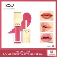 YOU The Gold One Rouge velvet Matte Lipcream[Quick Dry & Non-transfer] - 04 Sassy