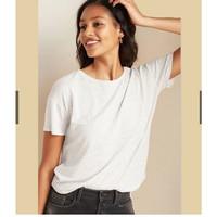 Old Navy Kaos Wanita Pocket White Pakaian Branded Original Murah