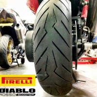 ban Aerox PCX ukuran 120/70-14 Pirelli Diablo Rosso Scooter Tubeless
