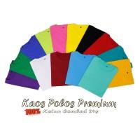 Kaos Polos Cotton Combed 24S Lengan Pdk Kaos Polos Unisex Pria Wanita
