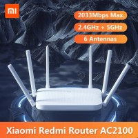 Xiaomi Redmi WiFi Router Gigabit AC2100 2033Mbps with 6 High Gain Ante