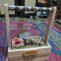 kotak mahar tunangan pernikahan wedding cincin kalung rustic