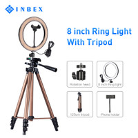 "INBEX 10""/6"" Selfie Ring Light with 125cm Tripod Stand for Photography - 20cm ring light"