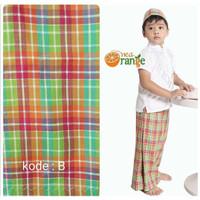 Size 2 Sarung celana instan anak + peci tanpa koko nea orange