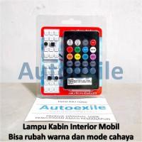 Autovision Lampu Interior Mobil T10 Festoon Rubah Warna Mode Cahaya