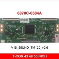 T CON - TCON TV LG 6870C-0584A (V16_55UHD_TM120_V0.6) 43 49 55 inch