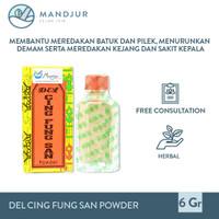 Del Cing Fung San Powder - Obat Demam Batuk Pilek Balita dan Anak-anak