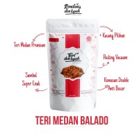 Teri Kacang Balado /Teri Nasi Medan Plastik Vakum /Brand Den Lapeh