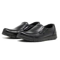 Sepatu Pantofel Casual Santai Formal Pria d091 Kasual Slip On Hitam