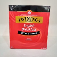 Teh Twinings English Breakfast ( Extra Strong ) 80 Bags 200g