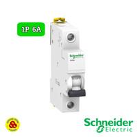 Schneider MCB 1P 6A Acti9 iK60A A9K14106 4,5kA MCB 1 Phase 6 Amp