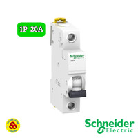 Schneider MCB 1P 20A Acti9 iK60A A9K14120 4,5kA MCB 1 Phase 20 Amp
