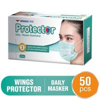 Masker Wingscare Protector 3 ply Earloop Surgical - 50 pcs