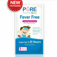 PURE KIDS Fever Free Cooling Patch Gel 1pc | Penurun Demam Anak
