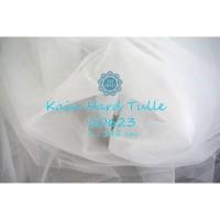 Kain Tile Kaku/Tulle Kaku / Hard Mesh - 10623 Putih BW (Per 0,5 Meter)