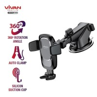 Vivan Car Holder CHS05 with Suction Cup Automatic Lock Original