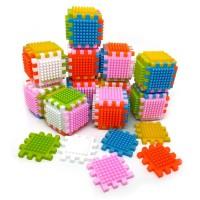 Mainan Edukasi Puzzle Creative Block Thorn Rubik isi 72 keping